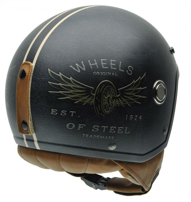 Casca open face NZI Tonup, Steelwheels