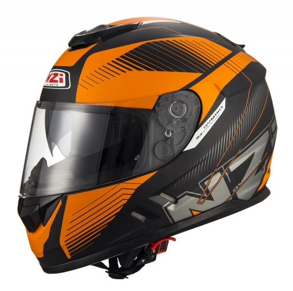 Casca integrala NZI Symbio 2 Duo, Indy Black/Orange