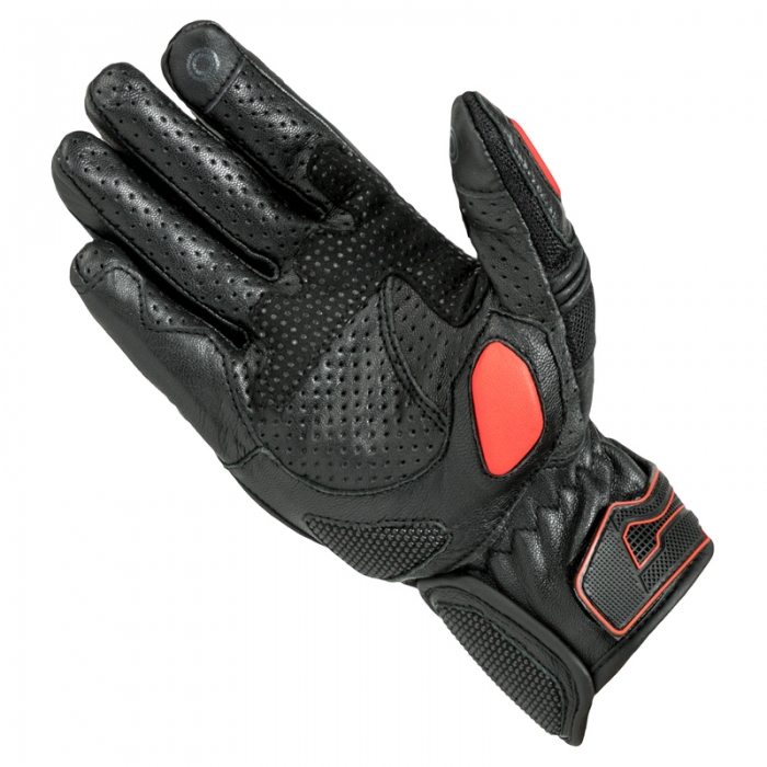 Manusi de piele Rebelhorn Flux Pro, Black/Red